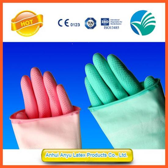 Latex Household Gloves Pink